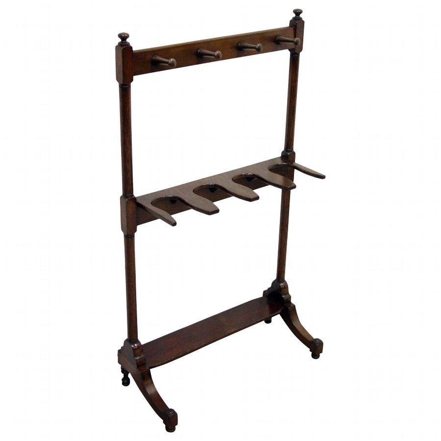 Victorian Oak and Beech Boot Rack