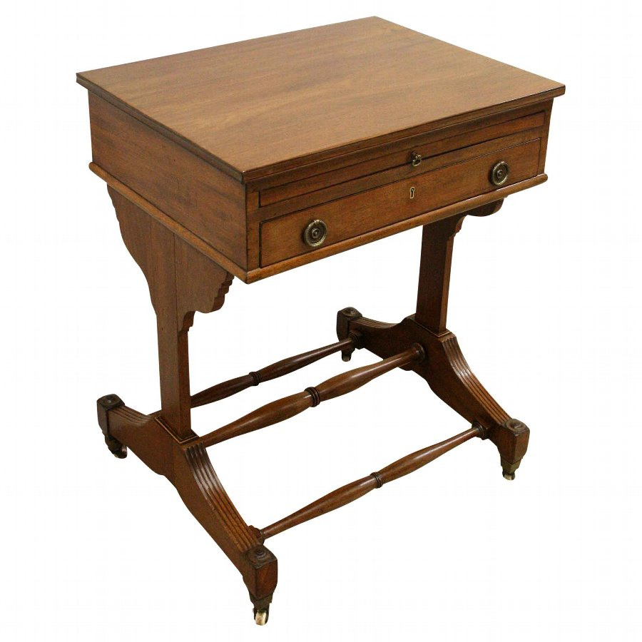 George IV Mahogany Writing Table/Work Box