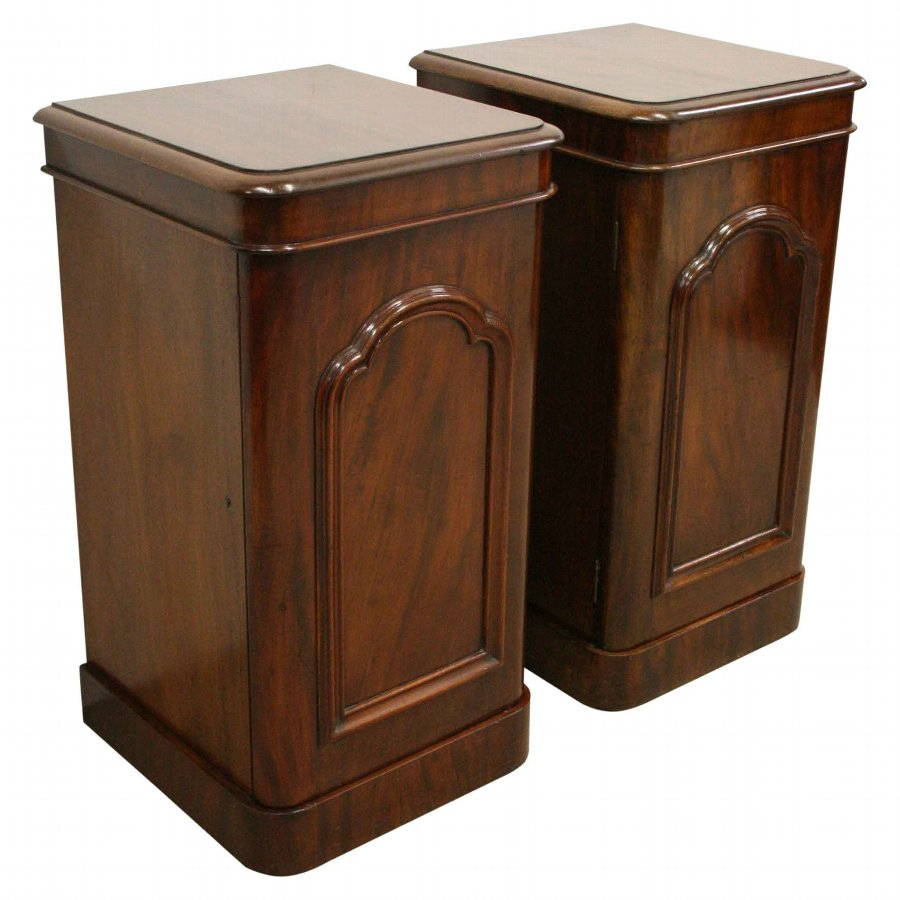 Pair of Victorian Mahogany Bedside Lockers