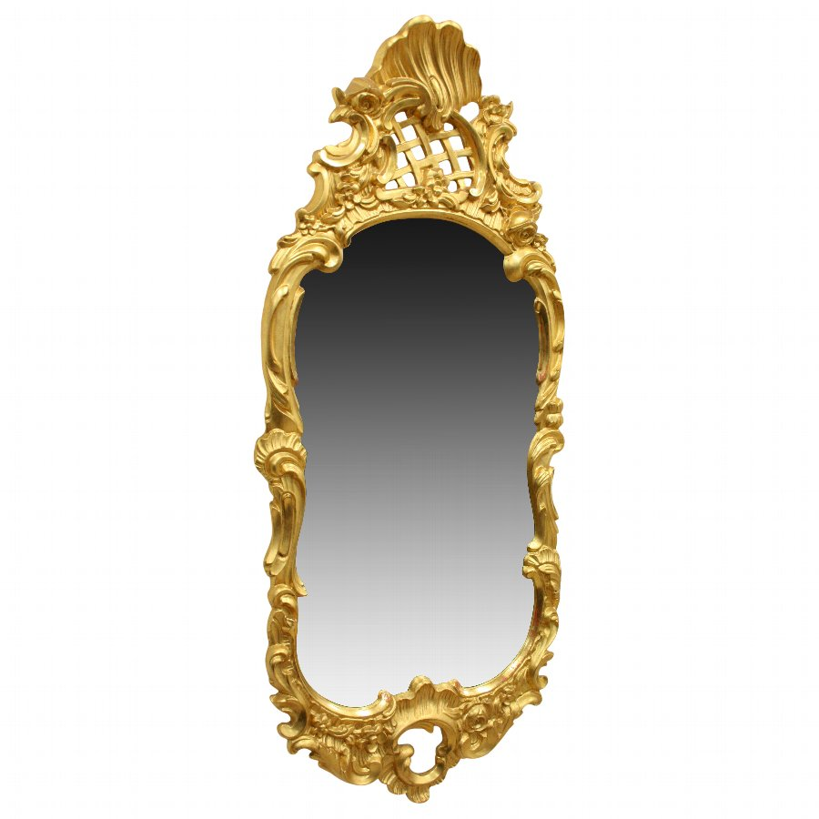 Louis XVI Style Carved Gilded Wall Mirror