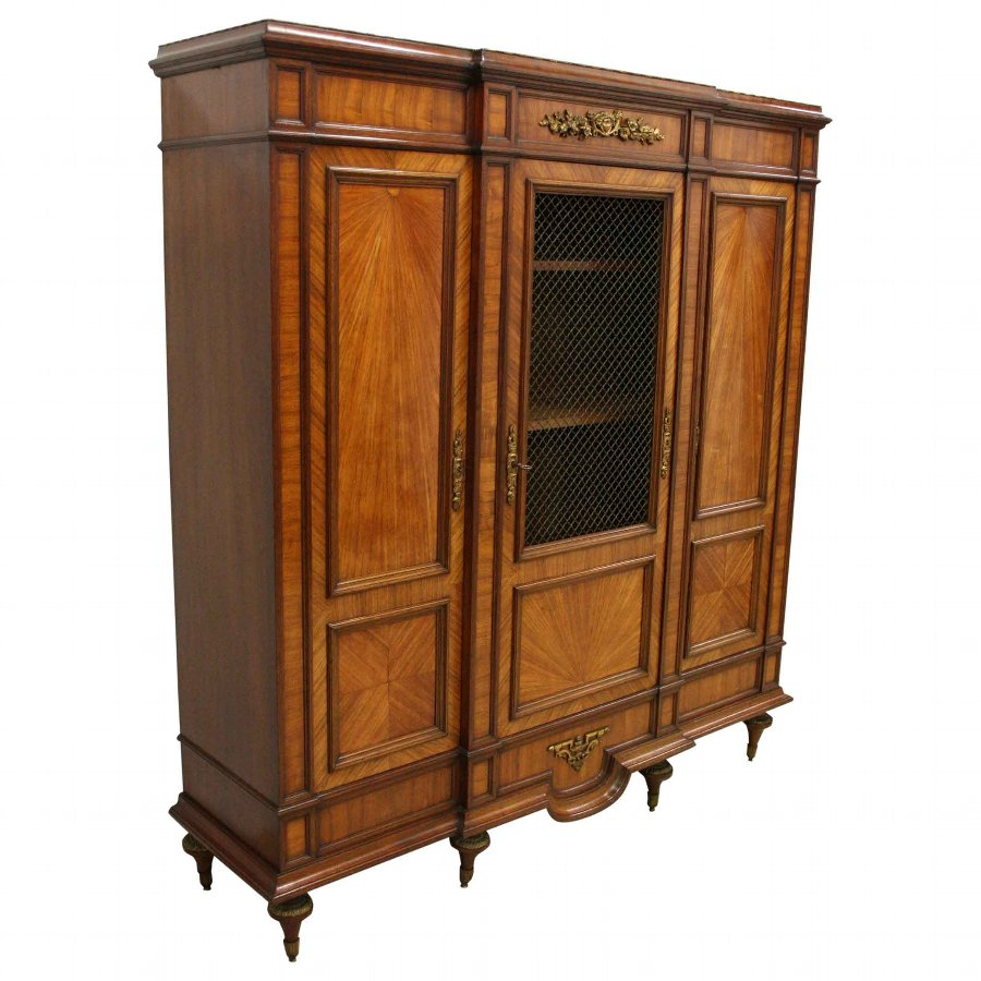 French Walnut Display Cabinet/Side Cabinet