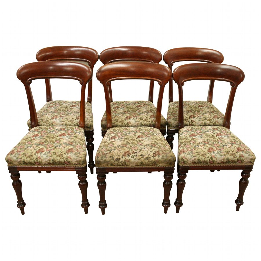 Set of 6 Scottish Victorian Dining Chairs