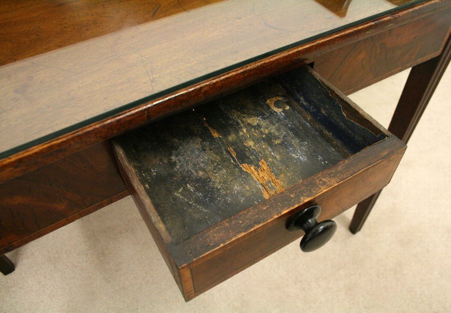 Antique George III Mahogany Inlaid Side Table