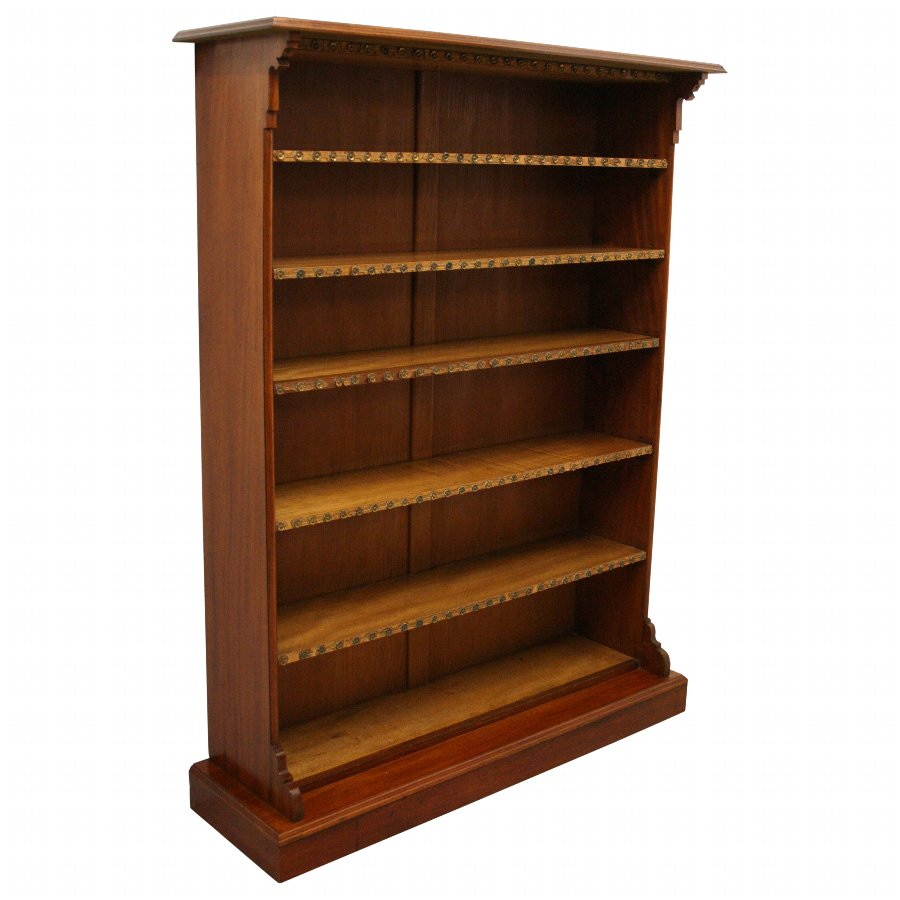 Aesthetic Movement Mahogany Open Bookcase