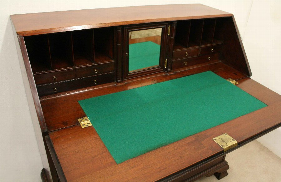 Antique George III Mahogany Bureau