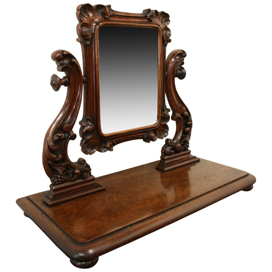 Early Victorian Mahogany and Sabicu Dressing Mirror
