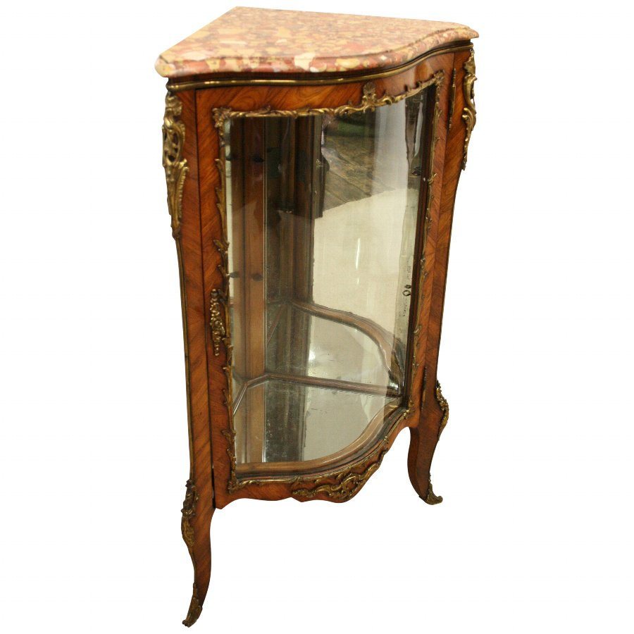 French Kingwood Corner Cabinet