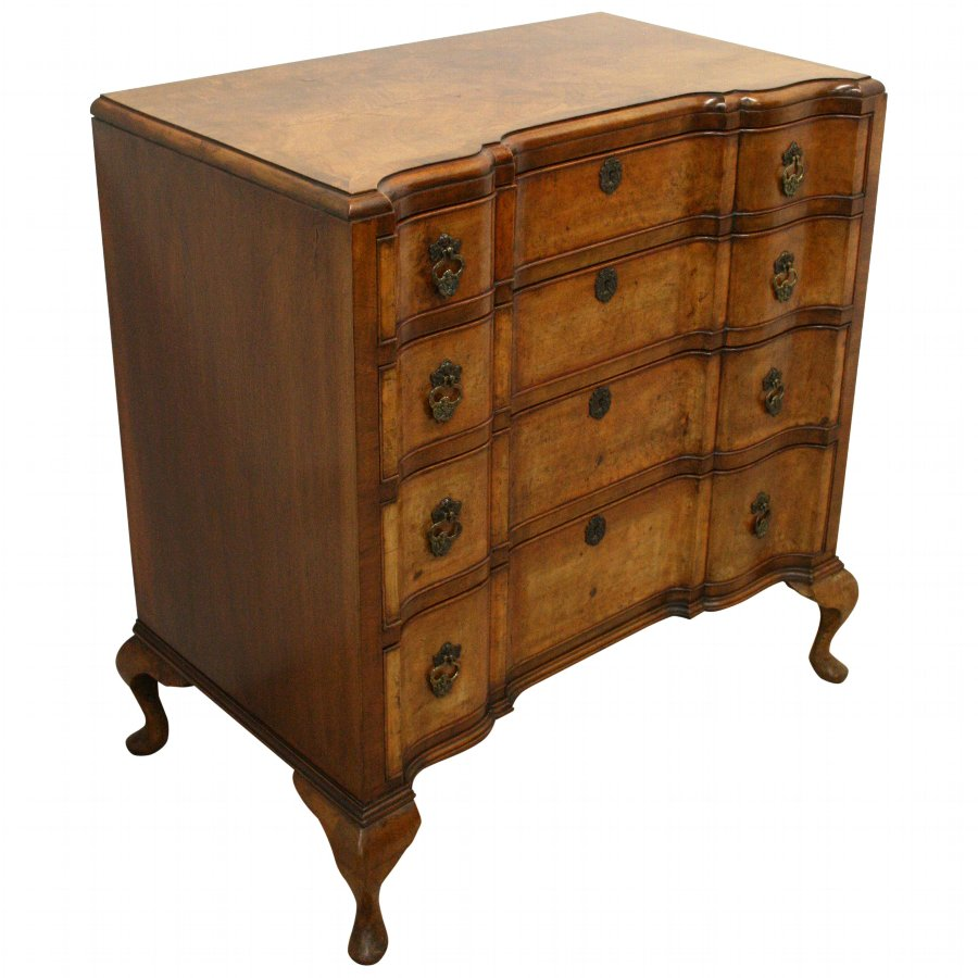 George I Style Burr Walnut Chest Of Drawers