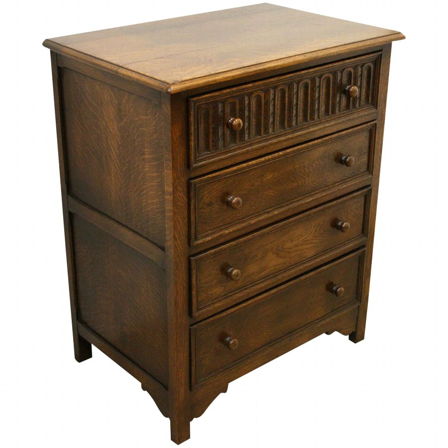 Jacobean Style Oak Chest of Drawers
