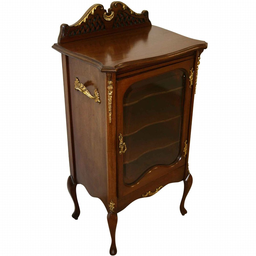 Late Victorian Louis XV Style Music Cabinet