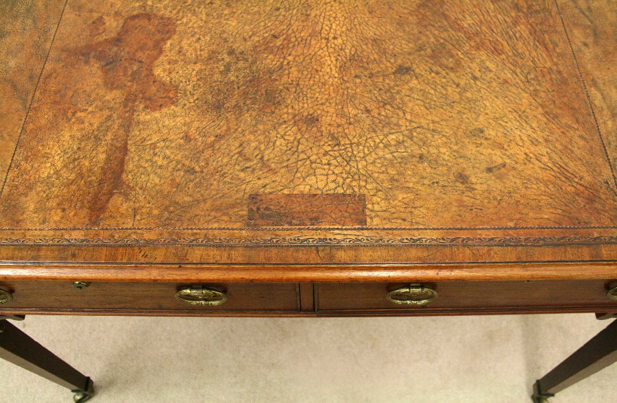 Antique George III Mahogany Library Table/Desk