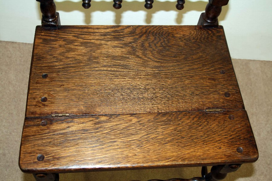 Antique Victorian Oak Metamorphic Chair/Library Steps