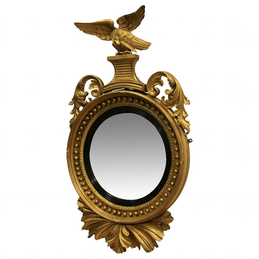 Regency Gilt Convex Mirror