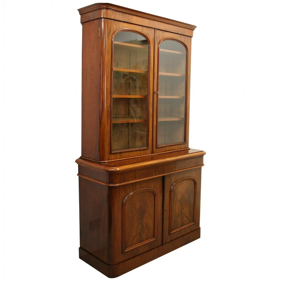 Mid Victorian Two Door Cabinet Bookcase