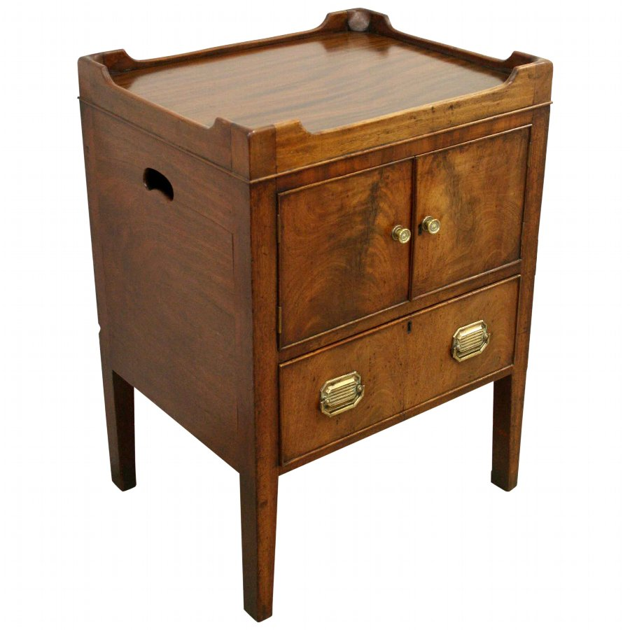 George III Mahogany Tray Top Commode