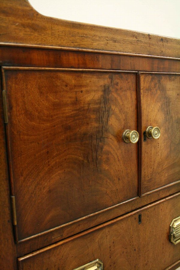 Antique George III Mahogany Tray Top Commode