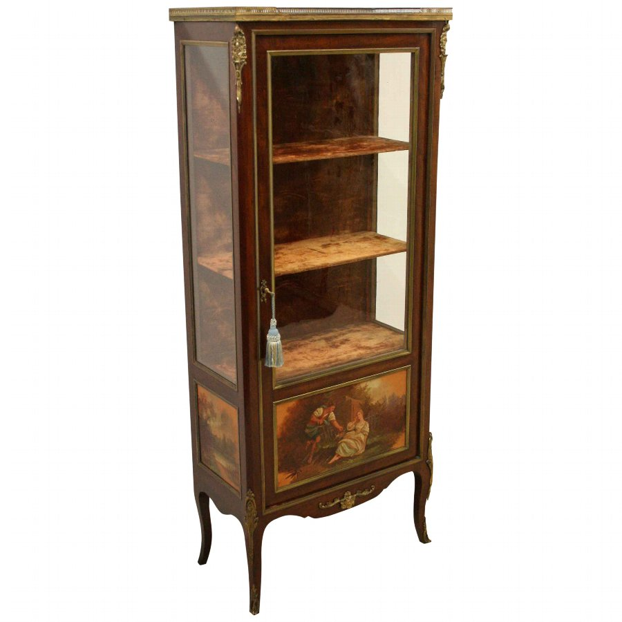 French Vernis Martin Style Side Cabinet