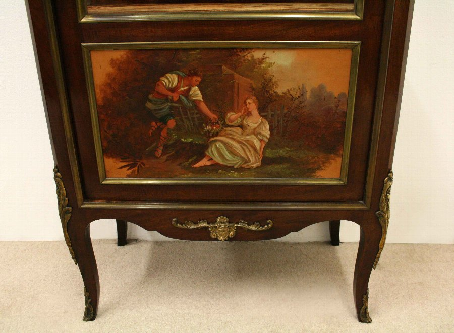 Antique French Vernis Martin Style Side Cabinet