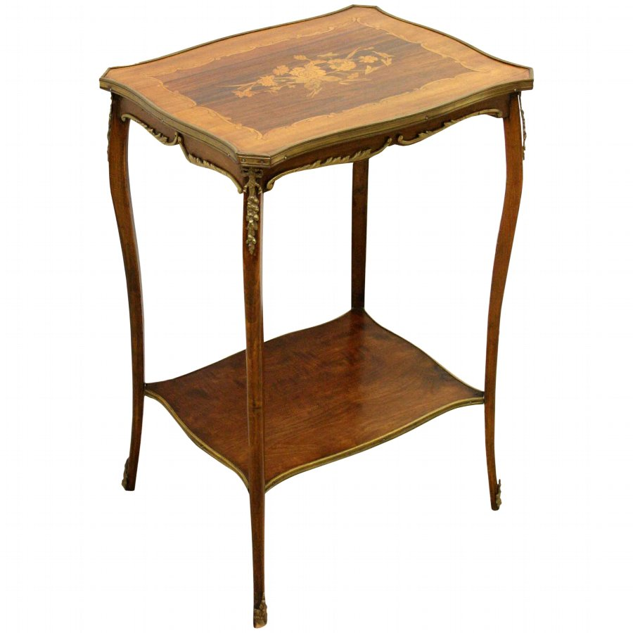 French Shaped Top Occasional Table