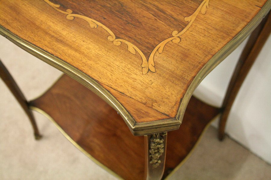 Antique French Shaped Top Occasional Table