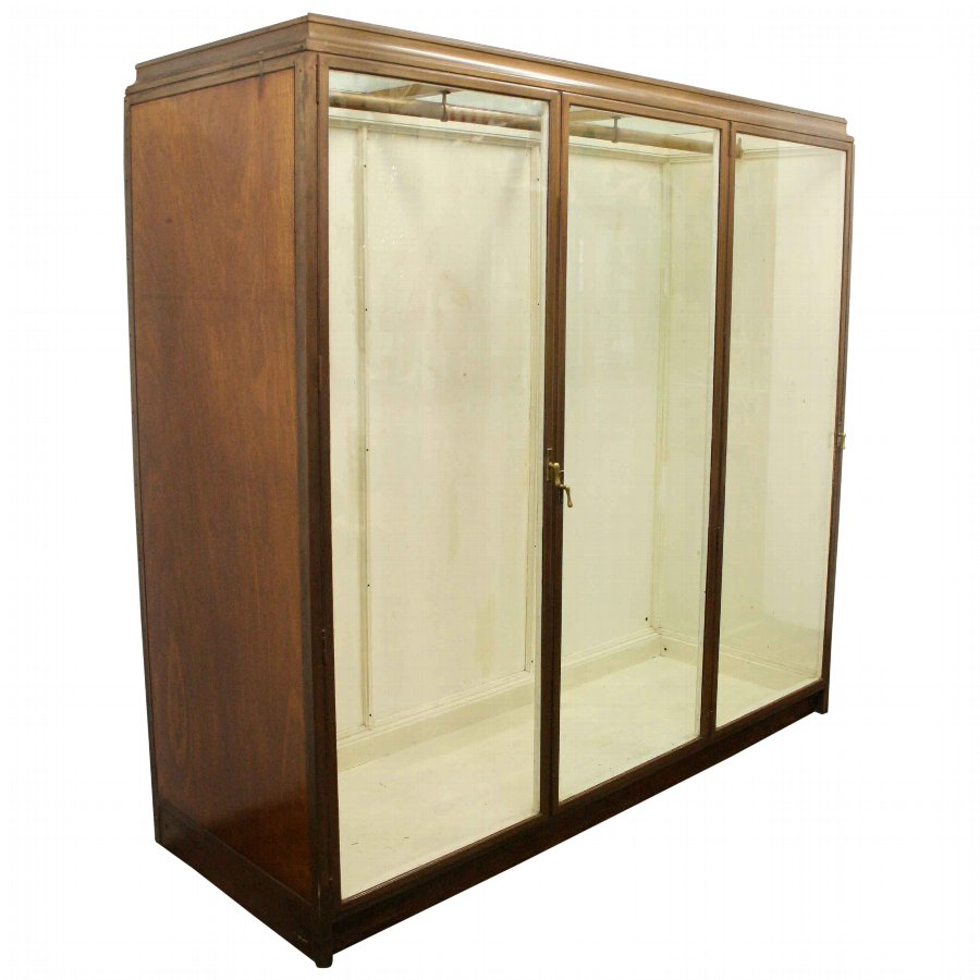 Ex Jenners Bronze 3 Door Display Cabinet