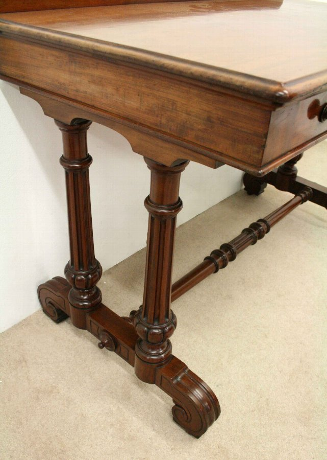 Antique Victorian Mahogany Side Table/Library Table