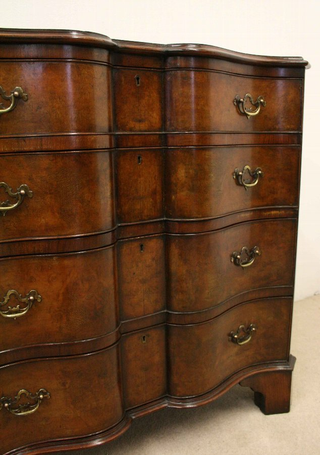 Antique George II Style Burr Walnut Chest of Drawers