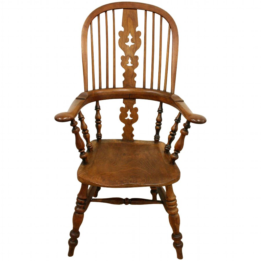 Antique Mid Victorian Elm Windsor Chair