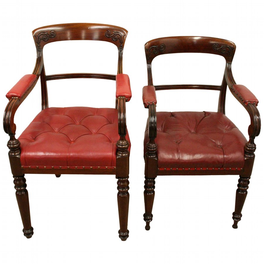 Antique Set of 20 William IV Scottish Mahogany Dining Chairs