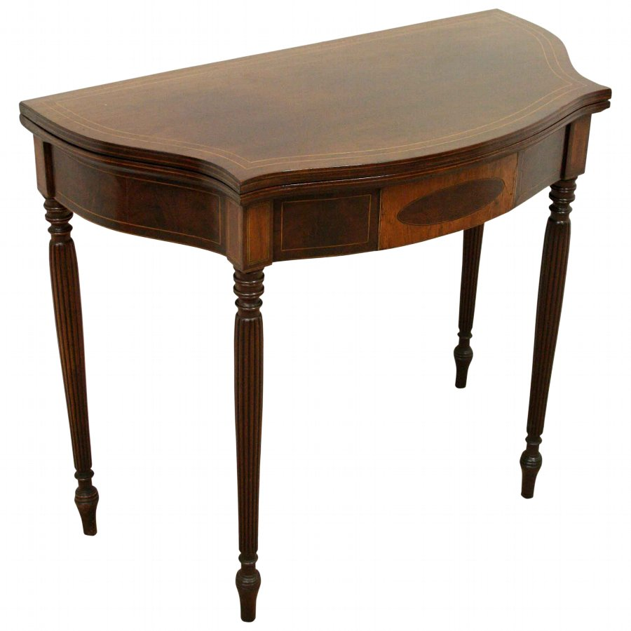 Sheraton Style Fold Over Tea Table