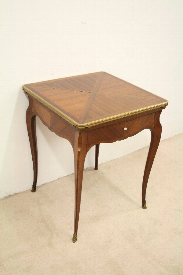 Antique French Mahogany Card Table