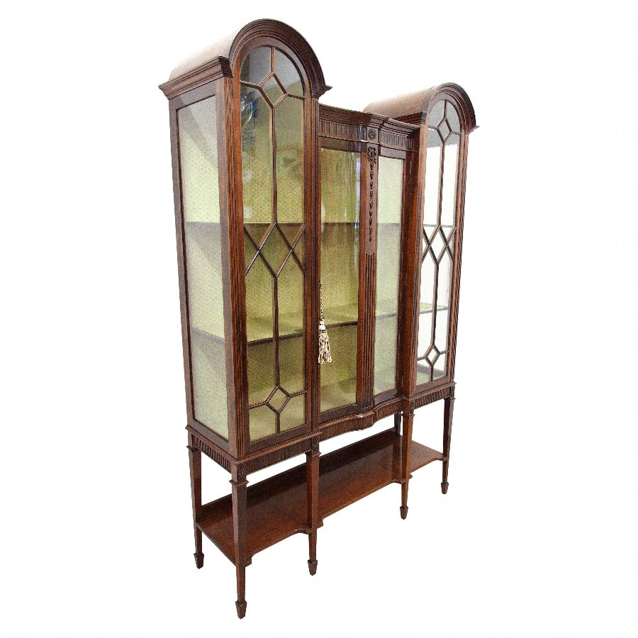 Mahogany Display Cabinet by T. Justice & Sons, Dundee