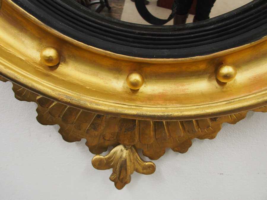 Antique Regency Style Convex Mirror