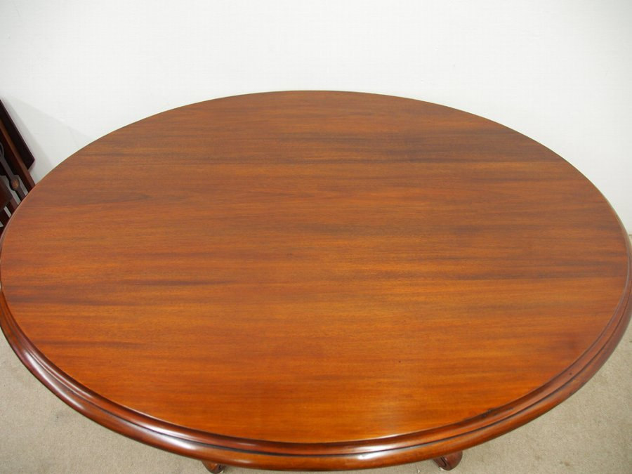 Antique Victorian Mahogany Snap Top Breakfast Table