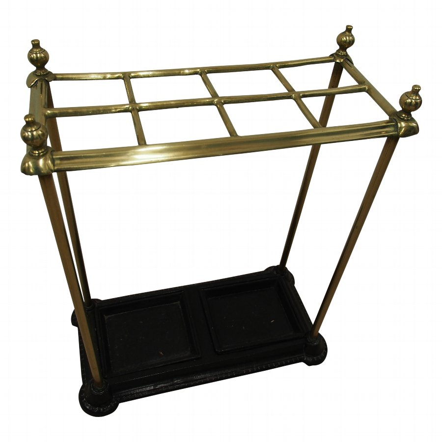 Cast Iron and Brass Stick Stand