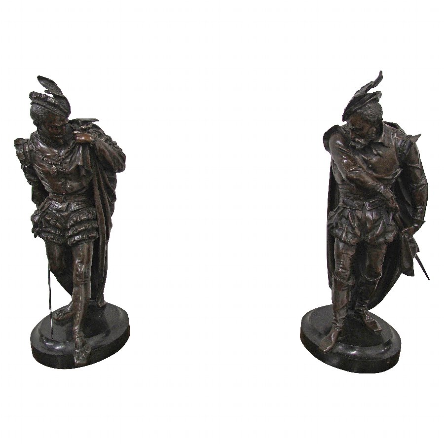Pair of Bronze Gentlemen