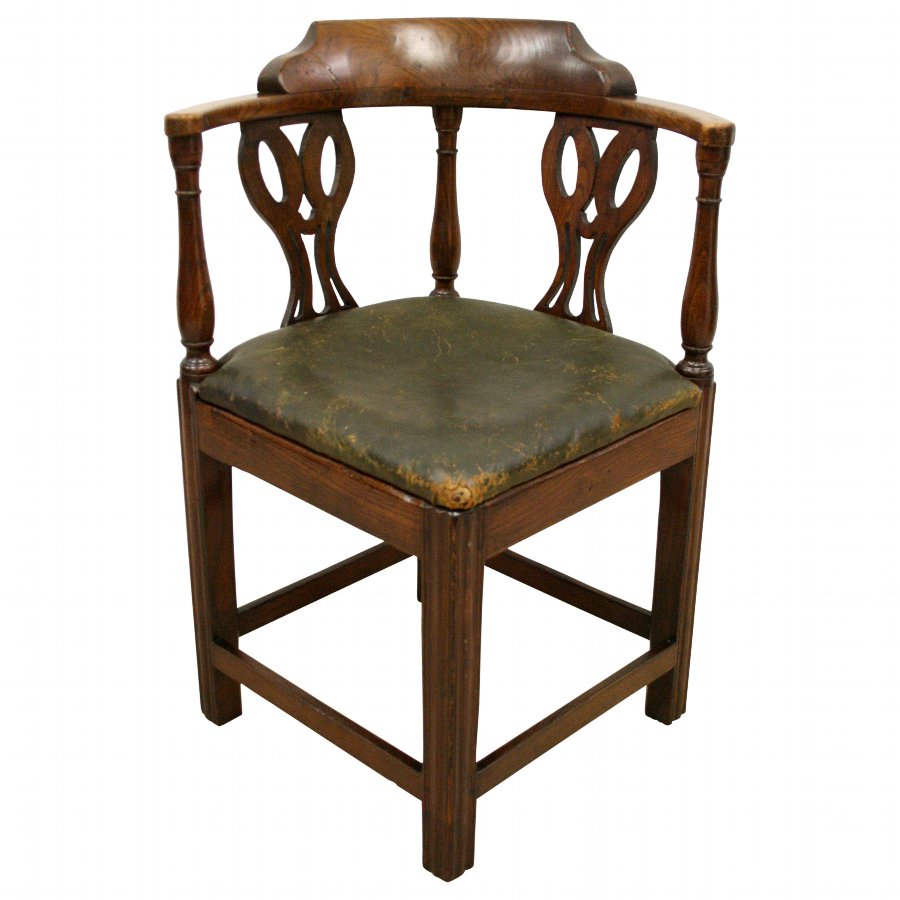 George III Elm Country Corner Chair
