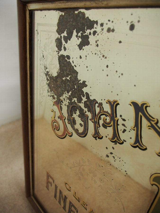 Antique Whisky Advertising Mirror