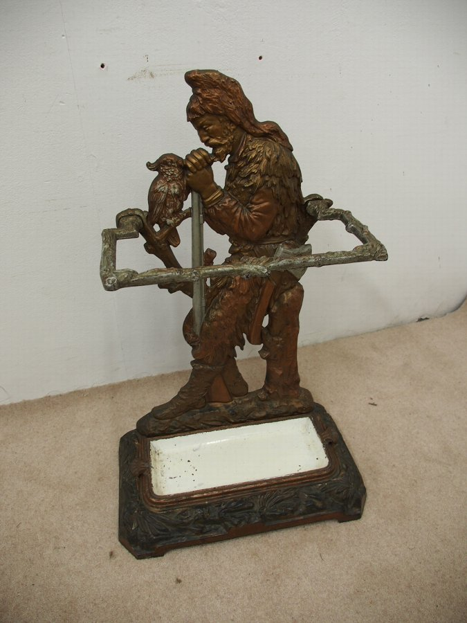 Antique Robinson Crusoe Victorian Stick Stand