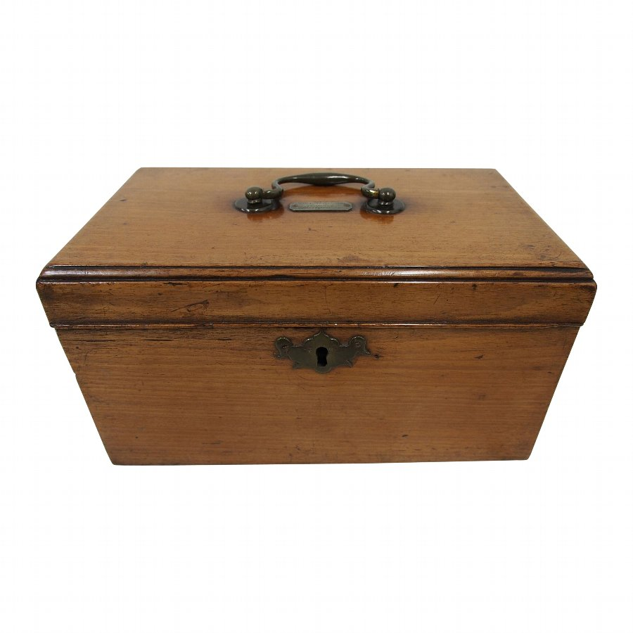 George III Walnut Tea Caddy