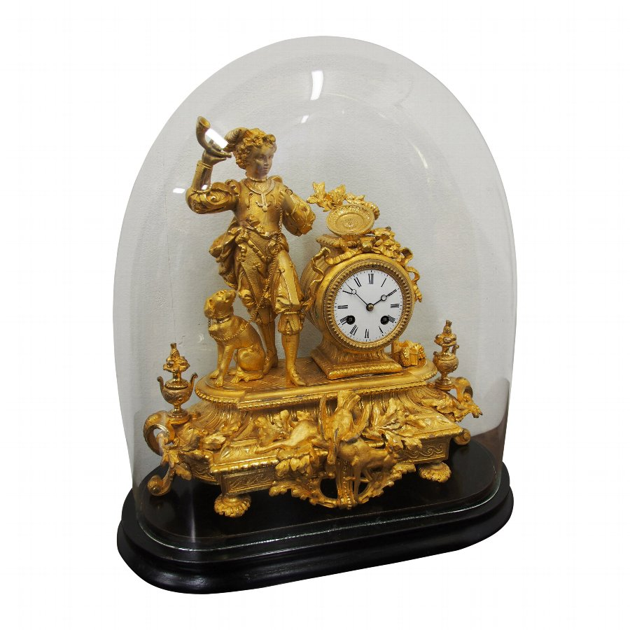 French Gilded Mantle Clock