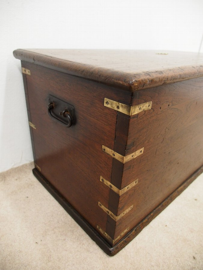Antique Colonial Teak Trunk