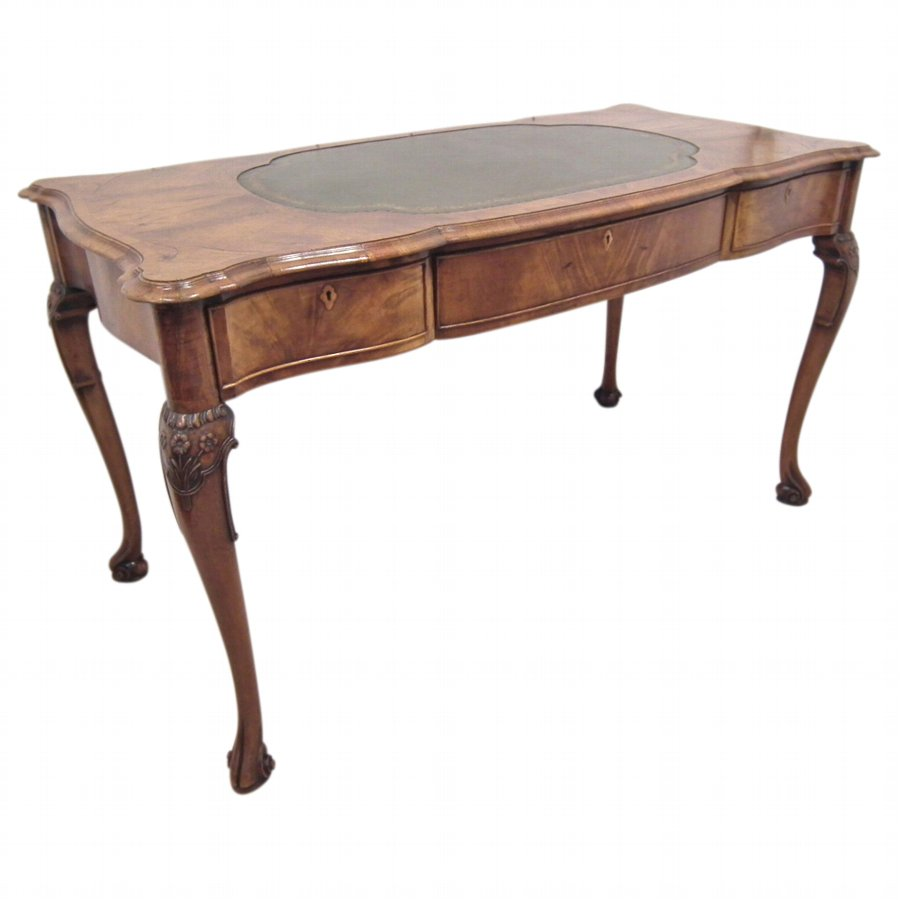 Early Georgian Style Figured Walnut Tozer Table