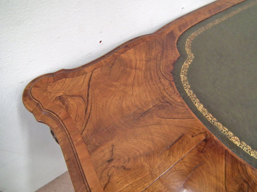 Antique Early Georgian Style Figured Walnut Tozer Table