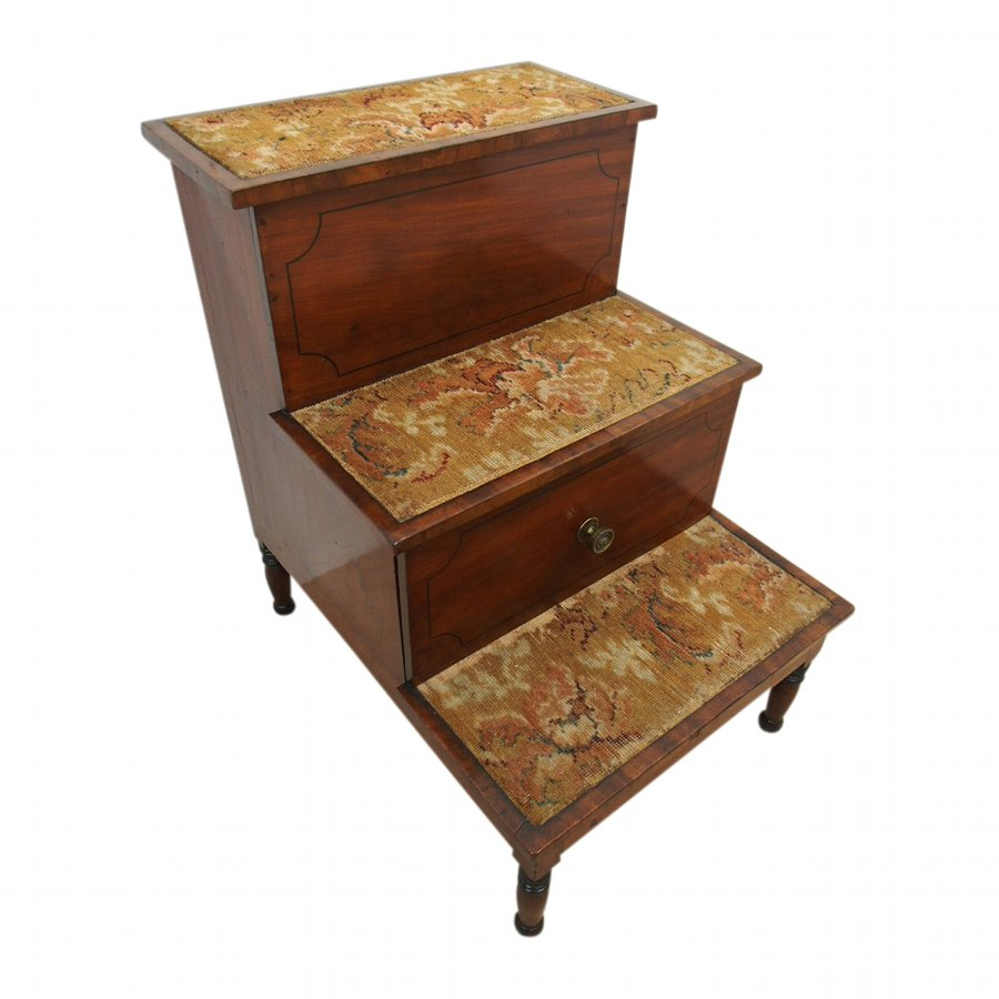 George IV Mahogany Step Commode