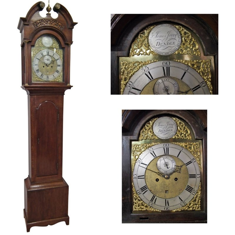 George III Oak Grandfather Clock by James Ivory, Dundee
