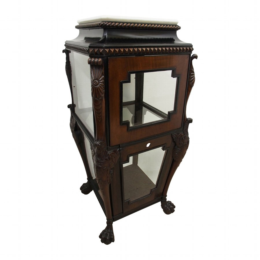 Regency Mahogany and Ebony Vitrine