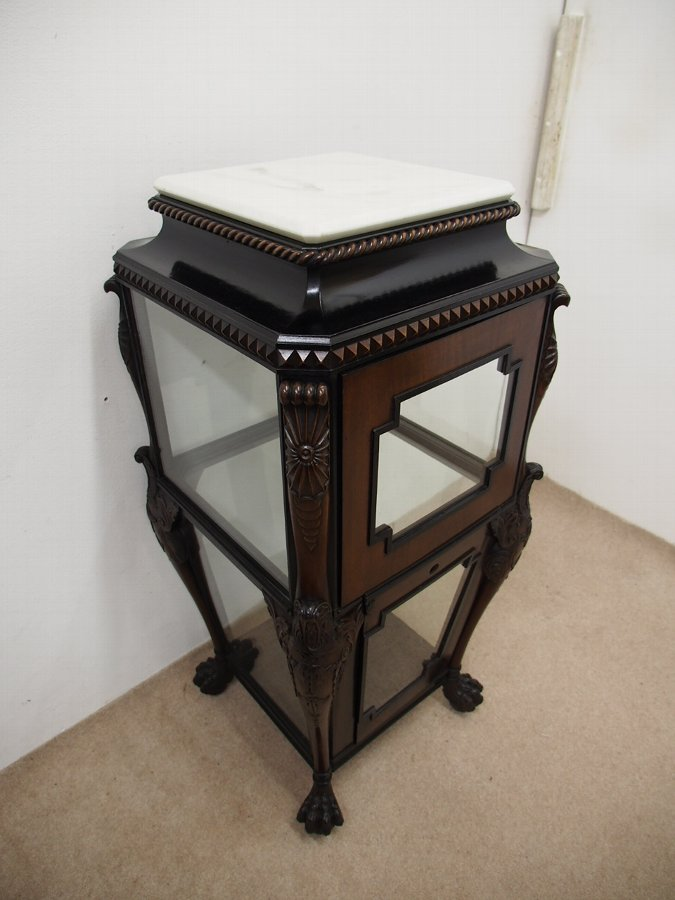 Antique Regency Mahogany and Ebony Vitrine