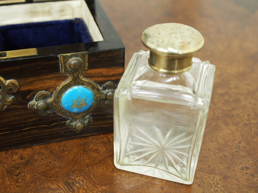 Antique Coromandel Domed Top Perfume Bottle Box