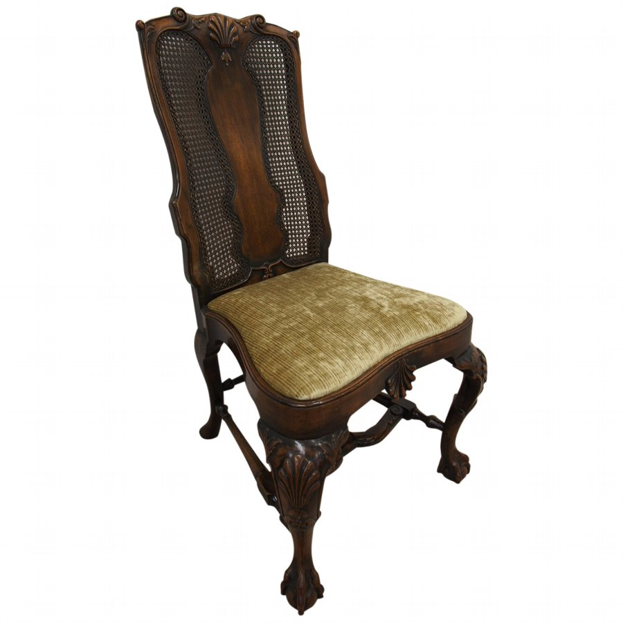 George I Style Walnut Bergere Chair